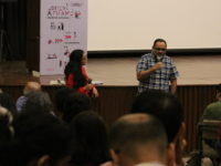 Anandana Kapur and Avijit Mukul Kishore following the screening of Squeeze Lime in your Eye by Avijit Mukul