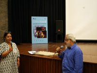 Aanchal Kapur and Arun Chadha, following the screening of Mindscapes
