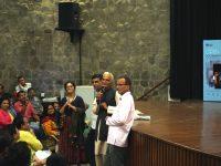Anandana Kapur, Nirmal Chander, Vidyadutt Sharma and Tribhuwan Uniyal, following the screening of Moti Bagh