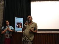 Anandana Kapur and Pratik Biswas, following the screening of On and Off the Records
