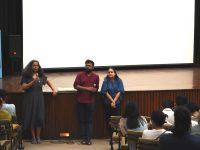 Anupama Srinivasan in conversation with Shashank Walia and Reema Kaur following the screening of Somewhere Nowhere