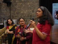 Aparna Sanyal, Pushpa Rawat and Anupama Srinivasan, following the screening of Nirnay