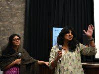 Anandana Kapur and Bindu Nair, following the screening of Notes on Martial Violence