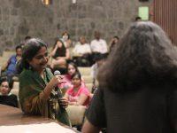 Hansa Thapliyal and Anupama Srinivasan, following the screening of The Outside In