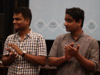 Navagat Prakash and Tathagat Prakash, following the screening of The Other Men in Blue