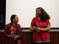 Pushpa Rawat and Anupama Srinivasan, following the screening of Nirnay