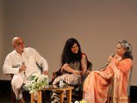 Rajiv Mehrotra, Umang Sabarwal and Sharmila Tagore, following the screening of Starring Sharmila Tagore