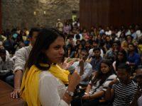 Sandeep Kr Singh amd Aakriti Kohli, following the screening of In the Mood for Love
