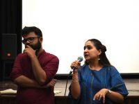Shashank Walia and Reema Kaur, following the screening of Somewhere Nowhere