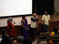 Vani Subramanian, Anoushka Matthews, Paranjoy Guha Thakurta and Wenceslaus Mendes ,following the screening of #Unfair