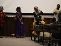 Vani Subramanian, Anoushka Matthews, Paranjoy Guha Thakurta and Wenceslaus Mendes following the screening of #Unfair