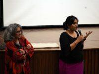 Vani Subramanian and Subasri Krishnan, following the screening of Sikhirini Mwsanai
