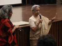 Vani Subramanian and Uma Chakravarti, following the screening of Prison Diaries